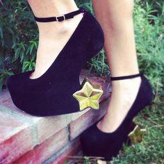 Jeffrey Campbell 'Starrynite' heelless shoes