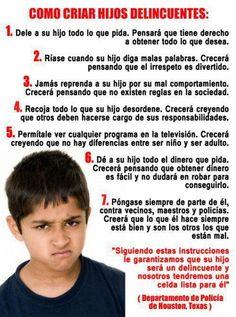 """#Reflexion """"Como criar #Hijos #Delincuentes"""". @candidman #Reflexiones"""