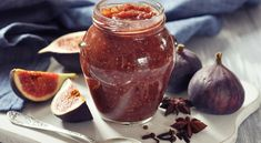 Wanna make Instant Pot Fig Jam? Oh and I also have FREE pressure cooker recipes especially for you :) Dried Figs, Fresh Figs, Fig Jelly, Gourmet Appetizers, Fruit Compote, Fig Recipes, Drink Recipes, Fruit Preserves, Fig Jam
