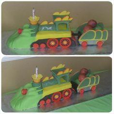 Dinosaur Train RKT cake with dino egg cake pops