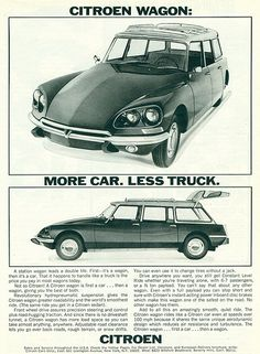 Citroën DS Station Wagon - US adv (1969)