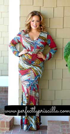 Talk about special occasion ready! This print + this cut gives you no option BUT to turn heads in this stunner! This is amazing on a girl with curves, plus the material is so stretchy and light weight! You will not only look amazing, you will feel amazing all day long! #curvyfashion #plussize #plussizeclothing #plussizedresses #spring