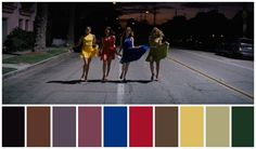 La La Land (2016) Director: Damien Chazelle Cinematography: Linus Sandgren Movie Color Palette, Colour Pallette, Cinematic Photography, Film Photography, Cinema Colours, Color In Film, Damien Chazelle, Pantone Colour Palettes, Real Movies