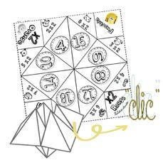C'est un jeu, très connu, que j'avais envie de proposer à mes élèves avec la technique de pliage associée: Les tables suivantes x6, x7, x8, x9 sont par ici… Le mini-livre A3 pour …