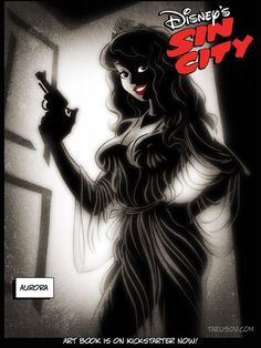 Russian artist Andrew Tarusov removes the innocence and puts a Sin City spin on Disney Princesses. Whether you're a Disney fan, a Sin City fan, or you - Art - Check out: Disney Princesses get Sin City treatment on Barnorama Disney And Dreamworks, Disney Pixar, Punk Disney, Disney Horror, Disney Facts, Disney Movies, Naughty Disney Princesses, Disney Villains, Twisted Disney Princesses