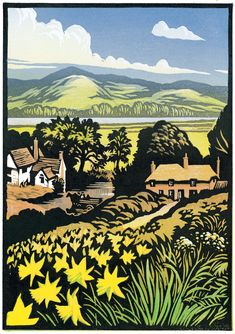 Chris Wormell, is a self-taught artist. He works using two main methods, wood engraving and linocut, Woodcut Art, Linocut Prints, Art Prints, Block Prints, Art And Illustration, Gravure Photo, Wood Engraving, Mellow Yellow, Woodblock Print