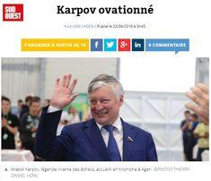 """🗞 À lire dans @sudouest : """"Arrivé vendredi à #Agen, Anatoli Karpov s'est prêté, très décontracté, samedi, au jeu des questions-réponses pour Sud Ouest"""" Questions, Photos, France, Fair Grounds, Friday, Pictures, French"""