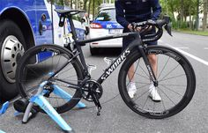 New Specialized Tarmac spotted at Criterium du Dauphine Pro Bike, Specialized Bikes, Cycling Art, Road Bikes, Bicycle, Sports, Swag, News, Photos