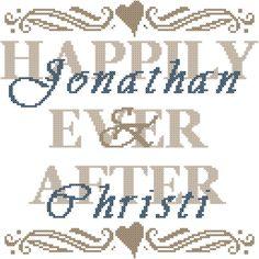 Modern wedding cross stitch pattern/Dandelion wedding cross stitch ...