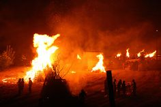 Fire at the San Juan summer's solstice celebration
