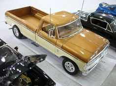 A great photo of a finished AMT plastic model truck Kit…