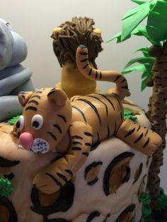 Tiger Torte Figur Fondant