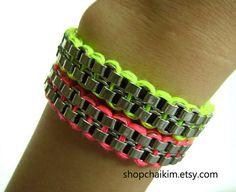 Simple Neon Friendship braceletNeon Yellow by ShopChaiKim on Etsy, $22.00