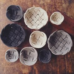 woven rope bowls by crayon chick