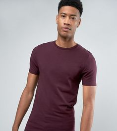 ASOS TALL Muscle T-Shirt In Oxblood - Red