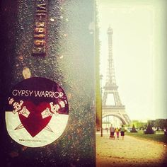 One of our very own buyers @Lauren Pinho is covering Paris with #gypsywarrior stickers!! Keep an eye out Parisian Gypsy Warriors, and take care of our little lady!!