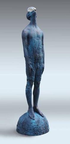 ☆ Rain .:Bronze -Ƹ- Glass Sculpture:. By Artist Nazar Bilyk ☆
