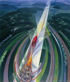 Gerardo Dottori - il Trittico della Velocita: ll Corsa, 1927