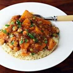 Butternut squash and chickpea stew (vegan and gluten-free). #foodgawker
