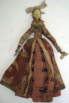 10 inch Grodnertal Doll