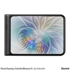 Floral Fantasy, Colorful Abstract Fractal Flower Power Bank