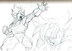 dragon ball z akira toriyama Pencil Sketches - Google Search