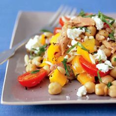 Tuna Orzo Salad.