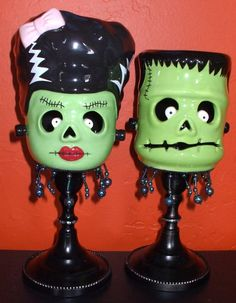 Halloween Frankenstein's Monster and his Bride by EerieEmporium, $20.00