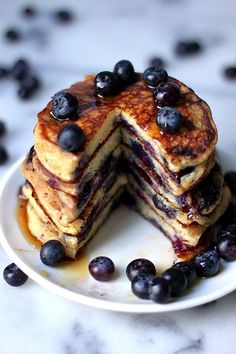 The Blueberry Pancakes Of Your Dreams - OMG I need these in my life! perfect summer breakfast or for Pancake Day