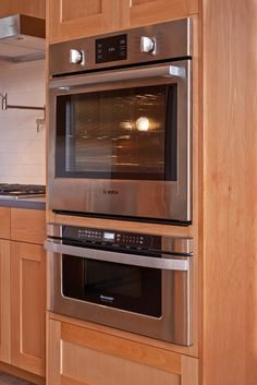 The electric wall oven above is large enough to roast a turkey.