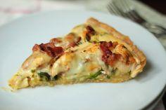Tarta z kurczakiem i warzywami Quiche, Breakfast, Recipes, Food, Tarts, Recipies, Hoods, Meals