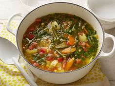 Chock-full of green beans, tomatoes, carrots, potatoes and more, Alton's Vegetable Soup offers an easy way to please crowds and eat more vegetables.
