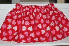 Do you want your girl to stand out in the crowd and not have the same skirt that every other little girl is wearing? This cute red, and pink