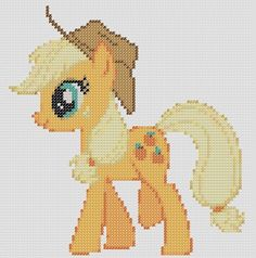 My Little Pony Inspired Pattern AppleJack by StitchedPixels