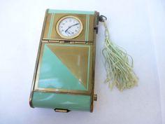 Art-Deco-Multi-Purpose-Compact-Clock-Cigarette-Holder-Lipstick-Holder