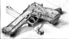 Gun Drawing. Stunning.