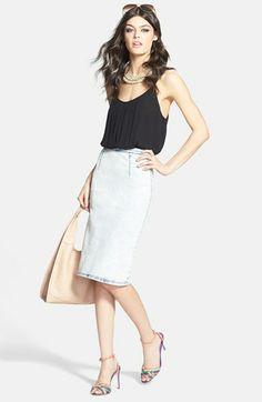 Chelsea28 Bodysuit & Glamorous Pencil Skirt  available at #Nordstrom