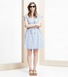 Mango Violeta Striped Linen Dress ($33)