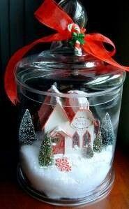 Christmas--put my small nativity scene in a jar, so pretty!