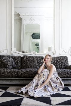 The Charmed Life of Lauren Santo Domingo by Sophie Carré for Town & Country Magazine UK Autumn 2015 - Rochas gown