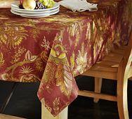 Sandi Palampore Crewel Embroidered Table Runner | Pottery Barn