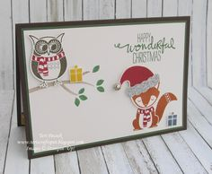Stampin' Up! - Cozy Critters - Hostess Stamp Set ....  Teri Pocock -http://teriscraftspot.blogspot.co.uk/2016/11/cozy-critters-hostess-stamp-set.html