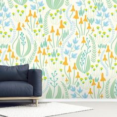 Stunning Forest Pattern wall mural from Wallsauce. This high-quality Forest Pattern wallpaper is custom made. Easy to order and install. FREE UK delivery within 2 to 4 working days. Photo Wallpaper, Wall Wallpaper, Pattern Wallpaper, Garden Mural, Wallpaper Companies, Inspirational Wallpapers, Wall Patterns, Surface Pattern Design, Designer Wallpaper