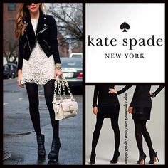 "Kate Spade BLACK TIGHTS  NEW WITH TAGS    Kate Spade BLACK TIGHTS   * Incredibly comfortable & high quality.   * Opaque solid black.   * Will not fade or shrink.   * Tagged size M/L will best fit sizes 5'6""-5'10"" and 125-175 lbs   * Stretch-To-Fit Style   Fabric: 90% nylon & 10% Spandex  Color: Jet Black   No Trades ✅Bundle Discounts✅ kate spade Accessories Hosiery & Socks"