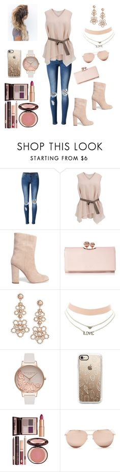 """""""nudity 2"""" by eliza-heffly ❤ liked on Polyvore featuring WithChic, Brunello Cucinelli, Iris & Ink, Ted Baker, Kate Spade, Charlotte Russe, Olivia Burton, Charlotte Tilbury and Linda Farrow"""