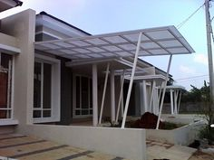 Kanopi besi hollo atap polikarbonat Bukit cimanggu city - Bogor