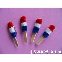 mini Bomb pops (using chenille)