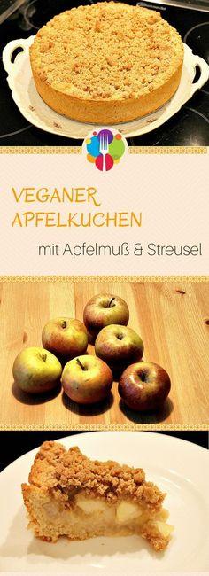 Veganer Apfelkuchen Vegalife Rocks: www.vegaliferocks.de✨ I Fleischlos glücklich, fit & Gesund✨ I Follow me for more vegan inspiration @vegaliferocks