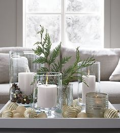 London Glass Hurricane Candle Holders - Home Decor Ideas - . - London Glass Hurricane Candle Holders – Home Decor Ideas – - Silver Christmas, Noel Christmas, Christmas Crafts, Cottage Christmas, Magical Christmas, Christmas Ornaments, Beautiful Christmas, Christmas Wreaths, Decoration Table