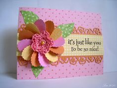 Sending Hugs: More heart flowers
